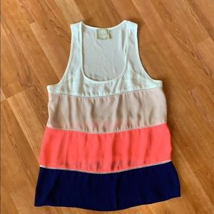 Alythea Color-Block Sleeveless Top S